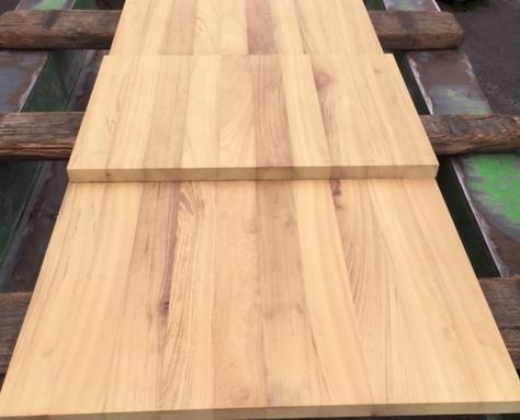 Massive Iroko Tischplatten